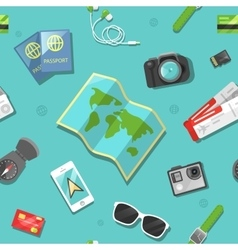 Tourism and Travel Seamless Pattern vector image
