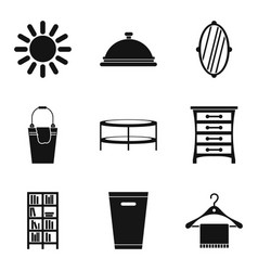 Weekend cleaning day icon set simple style vector