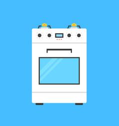 White gas stove icon vector