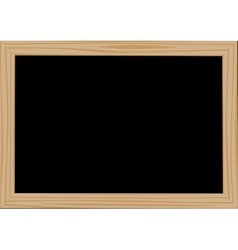 Wooden frame blackdesk vector image