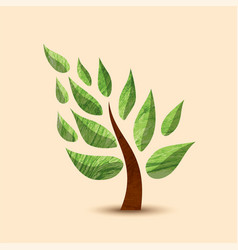Green tree concept symbol design for nature care vector