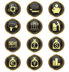 Money business icon set vector