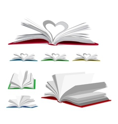 Open book set vector