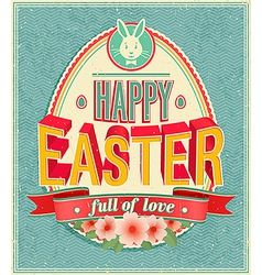 Card easter 2 vector image