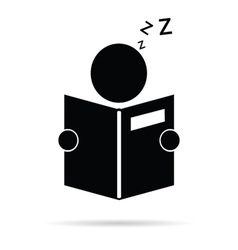 Book reader icon vector