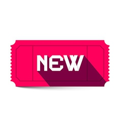 New Title on Pink Retro Ticket vector image