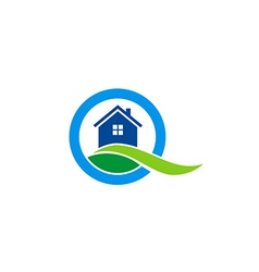 House land realty construction logo vector