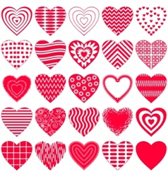 Valentine hearts vector