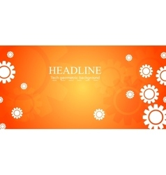 Abstract bright tech banner design with gears vector