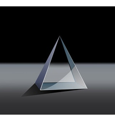 Glass pyramid vector