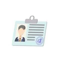 Identification card icon cartoon style vector