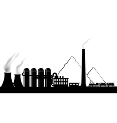 Silhouette of a power plant vector