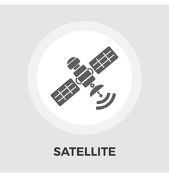 Satellite flat icon vector