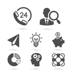Business finance icons isolated on white vector
