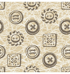 Seamless pattern with buttons in retro style vector