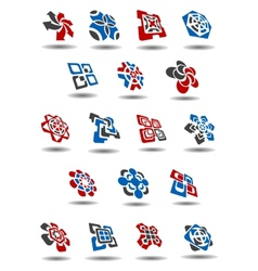 Abstract business icons and symbols templates vector image