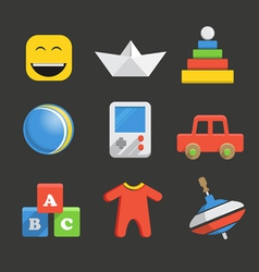Babys accessories icon collection vector image
