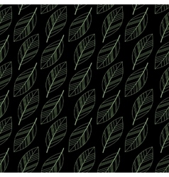 black seamless leaves vector image