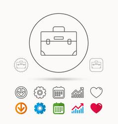 Briefcase icon business case sign vector