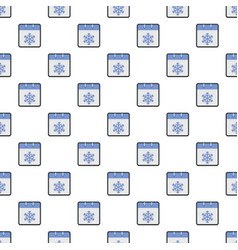 Calendar winter pattern seamless vector