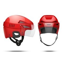 Classic Hockey Helmet vector image vector image