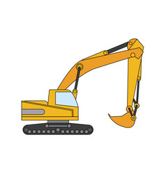 Color image cartoon construction heavy machine vector