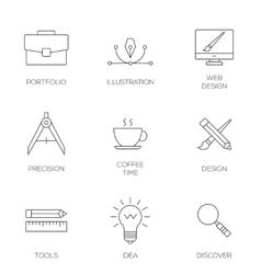 Creative design process concept vector image vector image