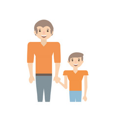 dad and kid infant image vector image vector image