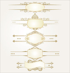 decorative ornate elements vector image vector image