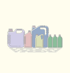 Different canisters and vector
