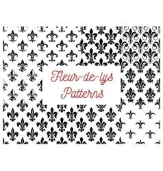 Fleur-de-lis floral seamless pattern background vector