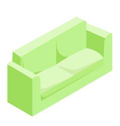 Green sofa isometric vector