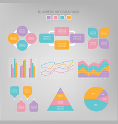 Infographic set flat design of business icon vector