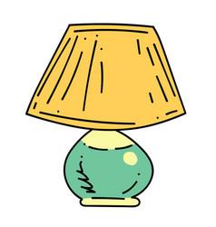 Lamp cartoon hand drawn image vector