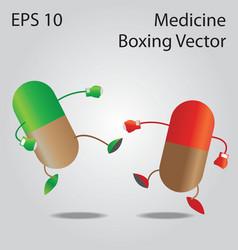 Medicine boxing vector image