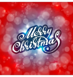 Merry Christmas Holidays card design vector image