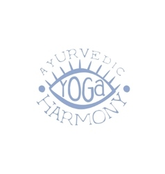 Oriental yoga hand drawn promotion sign vector