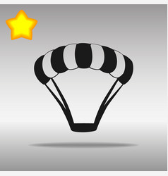 Parachute black icon button logo symbol vector