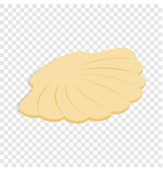 Seashell isometric icon vector