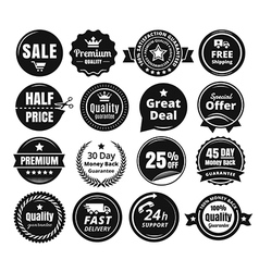 Sixteen scalable vintage badges vector