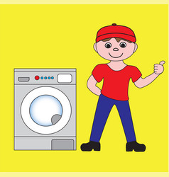 The master on repair of home appliances vector