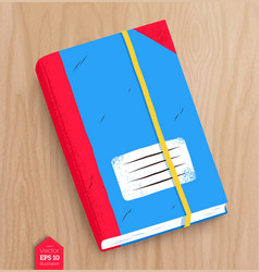 top view of closed notebook vector image
