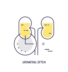 Urinating often Modern thin line icon vector image