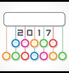 Creative new year calender for 2017 vector