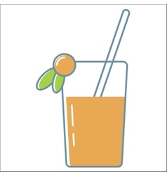Juice icons collection vector image