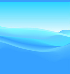 Abstract background of blue waves vector