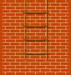 Wooden rope ladder in brown design vector