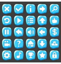 Ice game buttons vector