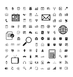 Icons set of business calendar documents vector