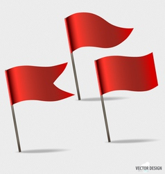 Red flags vector